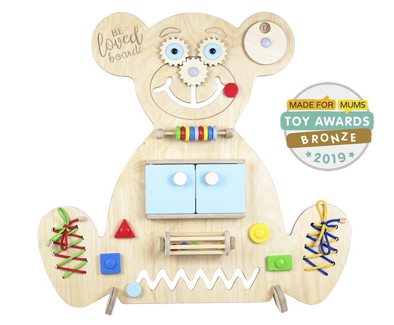 Busy board – Bear (blue)