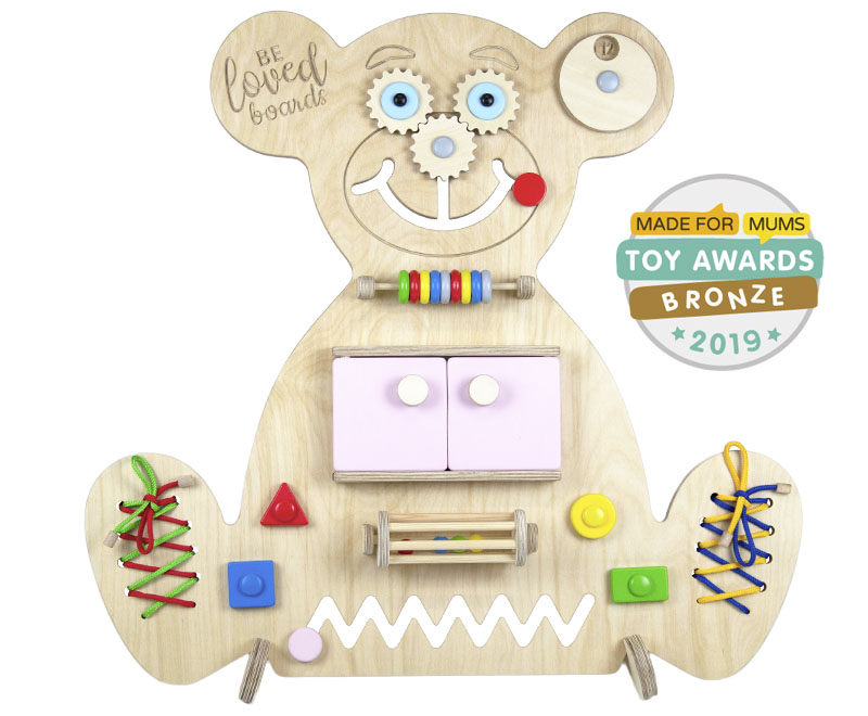 Busy board – Bear (pink)