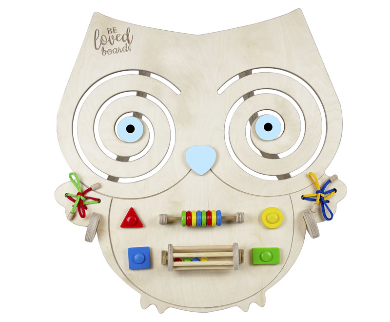 Busy board – Owl (blue)